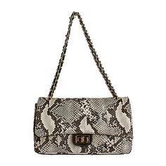 Designer Style Quilted Italian Python Leather Handbag (Medium Size) - £74.99