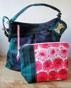 Tartan bag by Paperdolls & Posies