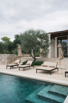 A Look Inside Amanzoe Villas — Modern Luxury Abodes in Porto Heli, Greece — Carley Rudd Travel Photography Outdoor Spaces, Outdoor Living, Pool Designs, Modern Luxury, My Dream Home, Exterior Design, Future House, Architecture Design, New Homes