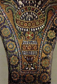 Byzantine mosaic crown, Dome of the Rock, Jerusulem Israel