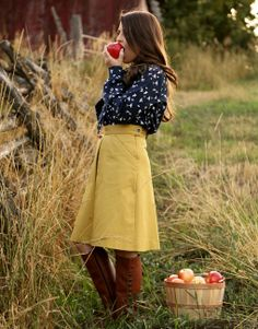 Love this riding skirt, and the way it's styled