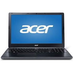 "Acer Black 15.6"" Aspire E1-532-2616 Laptop PC with Intel Celeron 2957U Dual-Core Processor, 4GB Memory, 500GB Hard Drive and Windows 7 Home Premium"