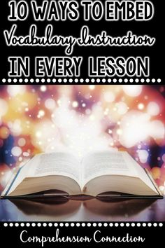 This post includes ten engaging ways you can embed vocabulary instruction into all of your lessons, daily routines, and activities. Latch onto children's natural curiosity by making word learning fun. Vocabulary Instruction, Teaching Vocabulary, Vocabulary Activities, Teaching Reading, Fun Learning, Teaching Resources, Teaching Ideas, Classroom Resources, Classroom Ideas