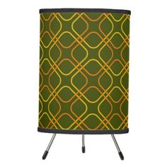 #home #lamps #decor - #Retro Tripod Lamp Avocado Green Yellow Orange