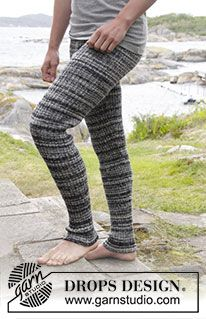 "Mountain Stroll - Knitted DROPS men's tights with rib in ""Fabel"". Size: S - XXXL. - Free pattern by DROPS Design"
