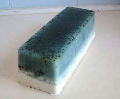 Peppermint Rosemary Vegan Handmade Soap Loaf