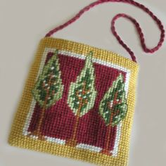 needlepoint pouch | Breezes Through the Treezes Pouch