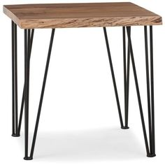 RENO Solid acacia wood end table ❤ liked on Polyvore featuring home, furniture, tables, accent tables, black accent table, expandable table, onyx table, acacia furniture and extendable table