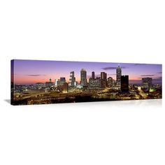 Cityscapes from UltraMurals - Ends on October 18 at CT Atlanta Skyline, Seattle Skyline, New York Skyline, Panoramic Pictures, News Space, Dusk, Cityscapes, Canvas, October