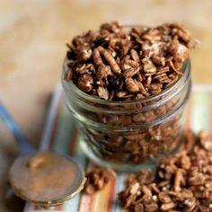 Peanut butter and cocoa granola.