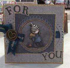 Handmade card made with the Santoro's Gorjuss Tweed collection   docrafts.com