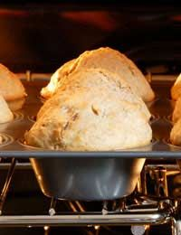 Ingredients:        150g (5oz) butter      150g (5oz) plain flour      Four tbsp honey      Three medium eggs      One tsp baking powder      150g (4.5oz) blueberries (fresh or frozen)    Method:  Preheat your oven to 200 deg C/400 deg F/gas mark six. Melt your