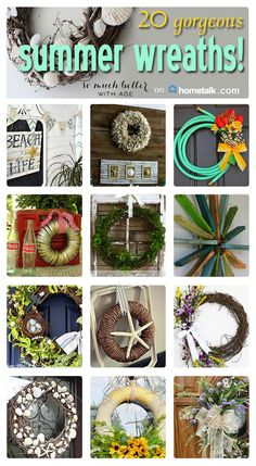 Beautiful summer wreaths for you to try!