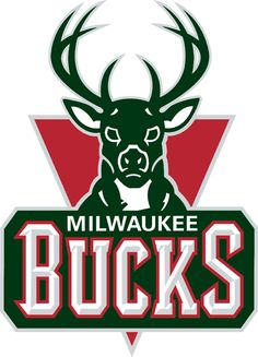 Milwaukee Bucks Primary Logo (2007) - A green buck head above script on a red triangle