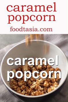 The ultimate Easy Homemade Caramel Corn recipe. Easy to make stays crispy andcrunchy for weeks and you wont believe how addictive it is Perfect forparties snacking movie night and gifting. Quick Dessert Recipes, Sweet Recipes, Snack Recipes, Sweet Popcorn Recipes, Detox Recipes, Easy Snacks, Easy Meals, Caramel Corn Recipes, Crunchy Caramel Popcorn Recipe