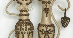 Utiliza una botella de vidrio para crear cualquiera de estos divertidos animalitos con estilo rústico. Puedes elaborar una infinidad de fig... Bottle Crafts, Projects To Try, Diy, Wallpaper, Garden, Home Decor, Recycled Bottles, Rustic Style, Decorated Bottles