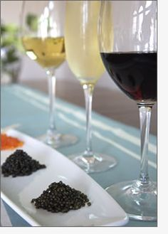 Caviar and Wine. Simply Awusum !!!