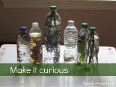 Invitation to Play from Teach Preschool-Nature Sensory Bottles