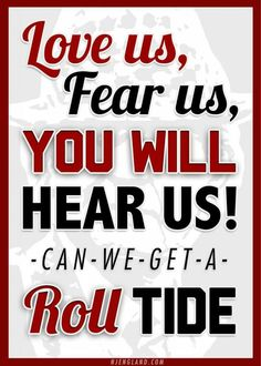 Roll Tide Roll ~ Check this out too RollTideWarEagle.com ~ sports stories that inform and entertain, plus #collegefootball rules tutorial. Check out our blog and let us know what you think. #RTR #RollTide