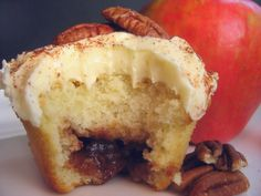 Bake It in a Cake • Apple Butter Cupcakes