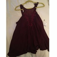 Urban Outfitters Romper in Wine Cutest romper ever, sadly too short on me :/ Urban Outfitters Dresses Mini