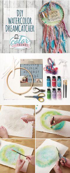DIY Watercolor Dreamcatcher Craft Hack