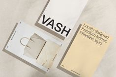 Studio South refresh the visual and strategic direction of luxury leather brand VASH — The Brand Identity Visual Identity, Brand Identity, Corporate Stationary, Minimal Web Design, Brand Assets, Vash, Brand Book, Brand Guidelines, Graphic Design Projects
