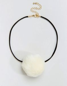 Limited+Edition+Faux+Pom+Choker+Necklace