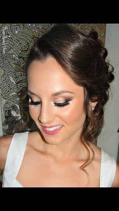 Bridal smoky eye on this gorgeous lady Bridal Makeup Artists Miami, Bridal Hair Artists Miami