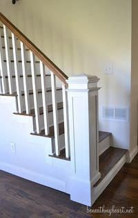 how to build a newel post beneathmyheart #banisterremodel
