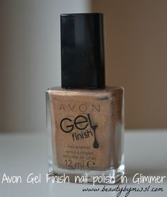 Avon Gel Finish nail polish in Glimmer #swatches and #review via @beautybymissl