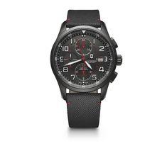 Victorinox Airboss Mechanical Chronograph Black Edition in black, 42 mm - 241721