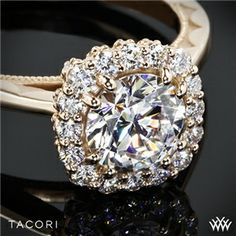Tacori Full Bloom Halo Solitaire Engagement Ring