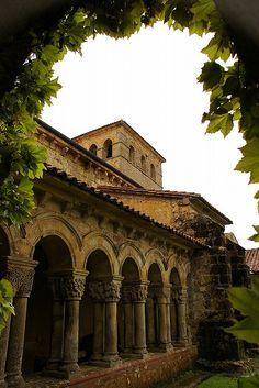 Romanesque cloister in Santillana del Mar (repinned from http://pinterest.com/visitacantabria)