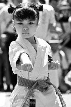 """Karate girl"" at Japanese festival.  I love how she looks both sweet and fierce.  Yes to raising strong girls!!!"