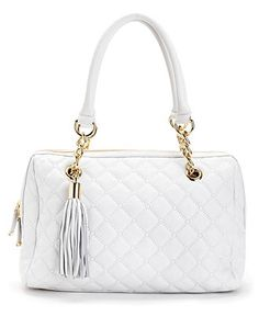 White-hot! Calvin Klein, Geneva Quilted Leather Satchel #handbag #purse BUY NOW!