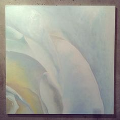 White Rose - acrylics on canvas