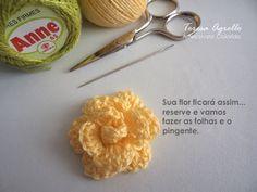 Marcador de páginas Rosa de croche
