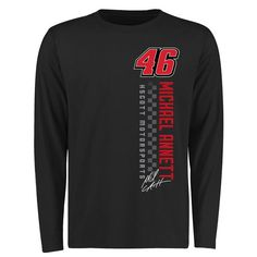 Michael Annett Finish Line Long Sleeve T-Shirt - Black - $27.99