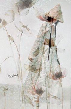 Beautiful Words, Asian Beauty, Wings, Delicate, Artwork, Paintings, Asian Art, Illustrations, Tone Words