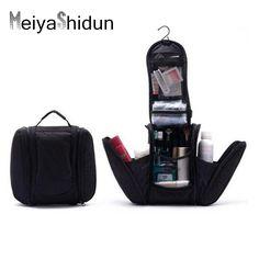 MeiyaShidun Black Orgarnizer Shaving men travel bags Deluxe Large Hanging Hook Travel Toiletry Kit bag Cosmetic Bag Pouch Holder