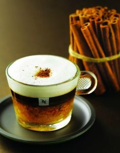 Mandarin Delight | With Nespresso Arpeggio, mandarin slices, ginger syrup, cinnamon and milk, this delicious coffee recipe has the perfect amount of flavor to create a memorable Nespresso moment.