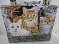 Best of Show Packed Cats  Handmade tote shoulder bag by Joanna1966,