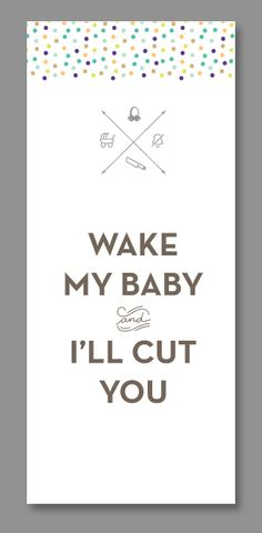 10 free printable Do Not Disturb Baby Sleeping door hangers and signs. Really funny and clever too!