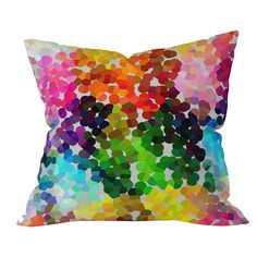 With a palette of vibrant colors, this chic pillow features a dot-inspired geometric motif. Add it to your living room to liven up an all-white seating group, or set it on the entryway bench to give guests an extra touch of comfort while they kick off their shoes.