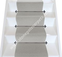 Plain grey stair runner designed with Axminster Carpet. Bespoke, British made-to-measure wool rich stair carpet runner with matching carpet for halls and landing. Carpet Stairs, Carpet Flooring, Hall Carpet, New Carpet, Modern Carpet, Cheap Carpet, Carpet Fitters, Wilton Carpet, Carpet Remnants