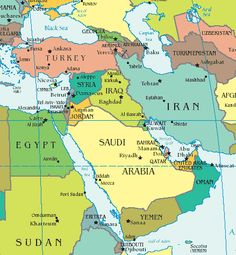 Middle East map - Map showing the countries of Middle East including ...