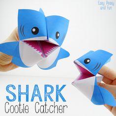 Origami for Kids Shark Cootie Catchers
