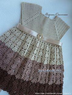 Tejidos realizados con amor para ti ...: Un elegante y coqueto vestidito de bebé.