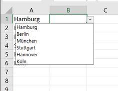 So einfach erzeugen Sie Dropdown-Listen in Excel